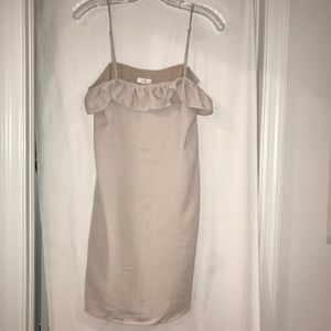 Lucca beige dress XS NEW ruffle